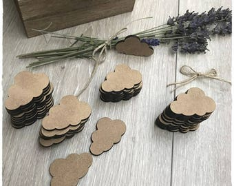 Set of 50 small clouds blank 2.6 cm thickness 3 mm height