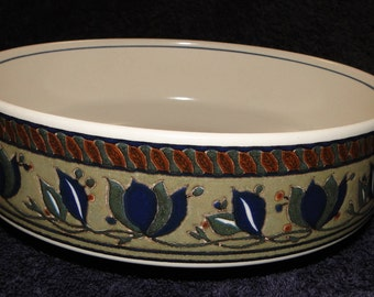 "Mikasa Arabella Vegetable Serving Bowl CAC01 8 1/2"" EXCELLENT!"