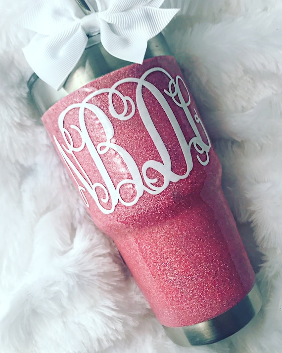 New Color! Glitter Yeti Rambler in Coral!