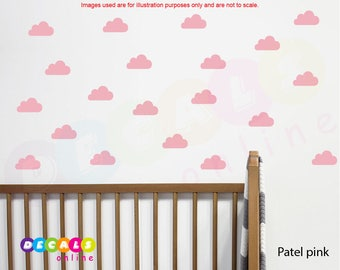Mini Clouds Wall Decals, Clouds wall stickers, Clouds nursery decals, Baby room decor, Cloud wall art, Cloud stickers, Nursery Wall Art