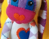 Scamp - Sock Bunny Rabbit : Handmade Plush Doll Toy
