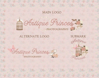 Antique Princess | Photograph Premade Logo Watermark Design | Logo Branding Package | Blog Header | Marketing Kit | Garment Bouquet Ornament