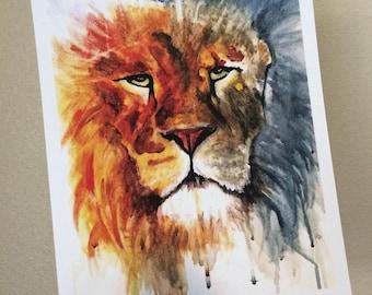 Lion ~ Print