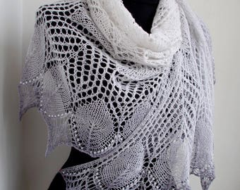 Hand knit shawl,Valentine's day gift,Wedding shawl,Knit wrap, Boho shawl,Lace shawl,knitted shawl,shawl wrap,Ready to ship,bridesmaids shawl