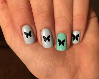 Butterfly Nail Art Decals - Vinyl Nail Stickers