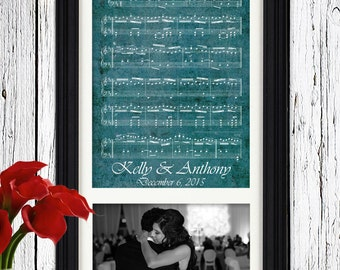 Photo Gift For Wife First Dance Sheet Music | New Wife Gift First Christmas | Personalized Gift for her from husband | Unique Wife Gift