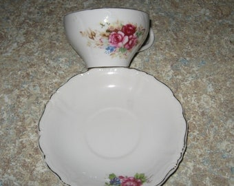 Vintage Japan Floral Cup and Saucer Set.....So Pretty
