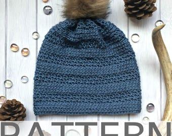 Crochet Hat Pattern | Peek-A-Boo Beanie | Crochet Beanie Pattern