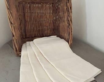 Set of 4 old towels