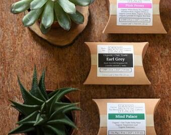 SAMPLE | ORGANIC TEA | Choose any of our Organic Teas | Loose Leaf or Tea Bags | Black Green Oolong White Pu'erh | Eco-Friendly Packaging