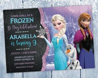Frozen Birthday Invitation, Frozen Birthday, Frozen Invitation, Frozen Birthday Decorations, Frozen Birthday Party, Elsa, Anna, DIGITAL File