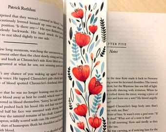 ORIGINAL Floral Bookmark - Hand Painted Watercolour - Design 4