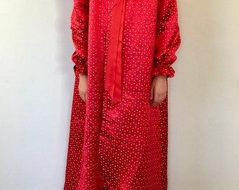 petite vintage satin nightcoat