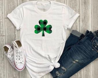 st. patricks day shirt - buffalo plaid shirt - shamrock shirt - paddys day tee - st. patricks day outfit - shamrock tee - holiday shirts