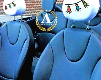 Holiday Lights Headrest Covers