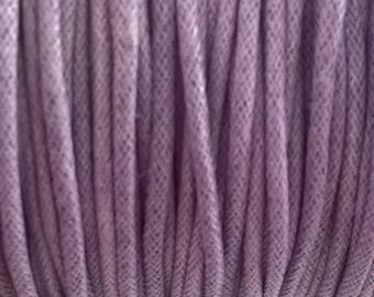 Purple 2 mm cotton cord