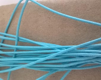 Set of 3.5 m of cotton cord coated Blue 1 mm