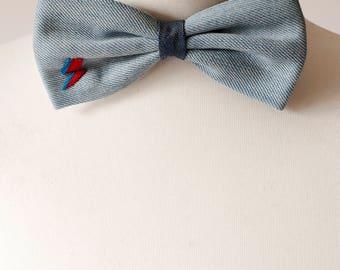 David Bowie Lighting Bolt Bow Tie, Bow Ties, Mens Bowties, Wedding bow tie, bow tie for men, Gift, mens tie, Headband
