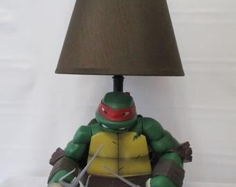 Ninja Turtle Lamp. Ninja Lampshade. Ninja Turtle. Ninjago. Ninja Lamp.  Turtle