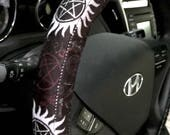 Supernatural Symbols-inspired Steering Wheel Cover