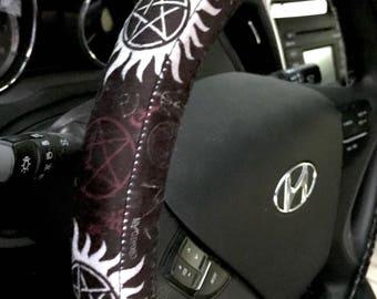 Supernatural Symbols Steering Wheel Cover
