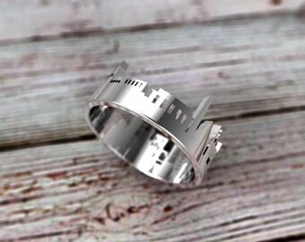 Sterling Silver Washington D.C. Skyline Ring - Washington D.C. Ring - Washington DC Gift - Washington DC Jewelry - Washington D.C. Souvenir