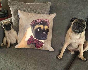 Square Pug Pillow