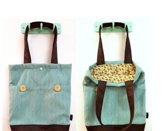 Tote bag, shoulder bag, vegan bag, Handbag, Beach Bag, work bag, Everyday bag, canvas handbag, canvas tote, blue bag, blue hand bag