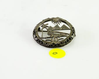 Old Egyptian .800 Silver Tourist Pin