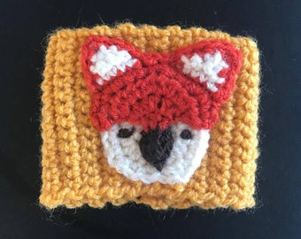 Coffee Cup Cozy Sleeve - Fox