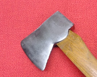 "Vintage Felling Axe Jersey Pattern Wood Splitting Axe 36"" Hickory Handle"