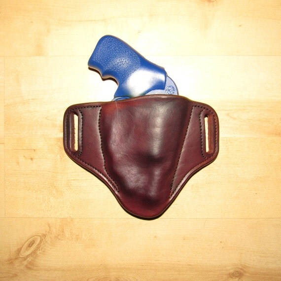 Leather Holster for Ruger LCR with Ruger LaserMaxx Laser, custom crafted from premium leather for EDC, OWB