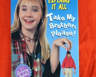 Clarissa Explains It All VHS Tape - Nickelodeon 1994 Take My Brother, Please!