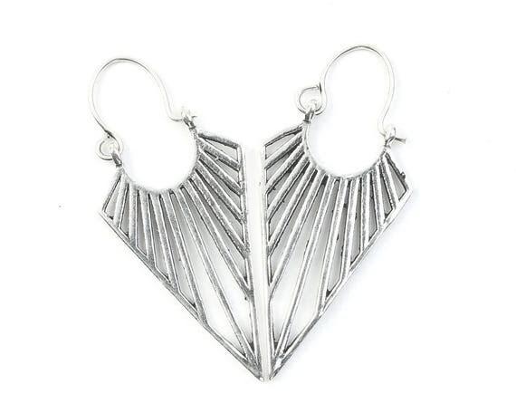 Lahan Line Earrings, Geometric Earrings, Alchemy Earrings, Minimalist, Modern Earrings, Festival, Gypsy Earrings, Ethnic,