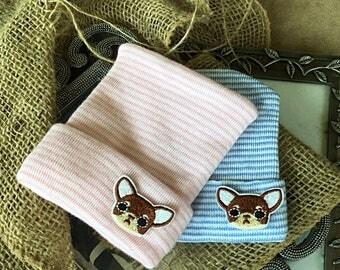 Chiwauwau Hospital Newborn Beanie, infant, Newborn, animal hat, pink or blue striped beanie, first, Chiwauwau hospital Hat