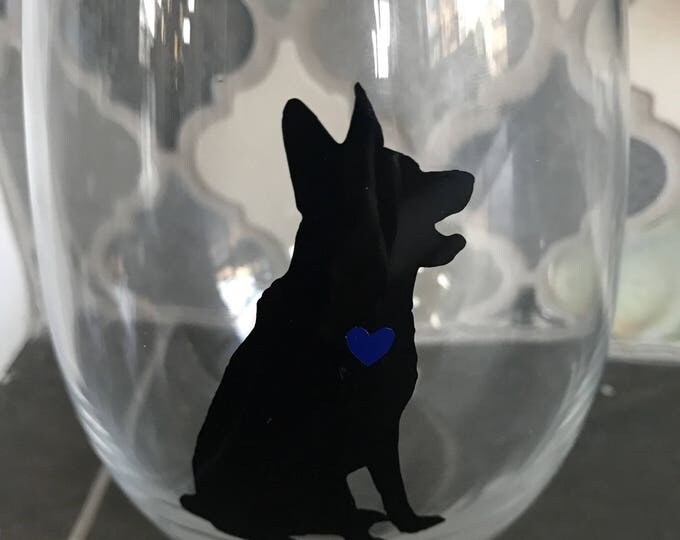 Cop Life™ K9 Handmade Stemless Wineglass.Lake Life Candle Co.™