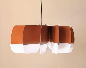 Wood Pendant Light - Modern Chandelier Lighting - Mid Century - Hanging Dining Lamp - Ceiling Light Fixture - Geometric Lamp - Minimal