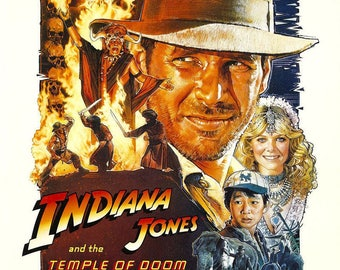 Indiana Jones and the Temple of Doom Movie Poster A3 or A4 Matt