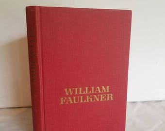 William Faulkner, As I Lay Dying, Red Vintage Hardback, Hardcover, Classic literature, literary fiction, 1957 edition