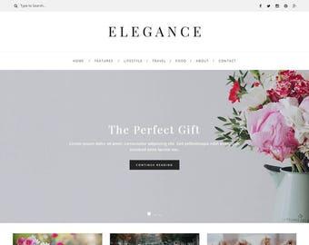 Elegance - WordPress Blog Theme - Feminine WordPress theme - Responsive WordPress theme - Website template