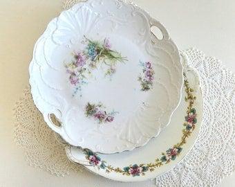vintage platters shabby chic platters round platters floral platters