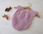 Crochet Baby Girl's Romper / Onesie Written Pattern