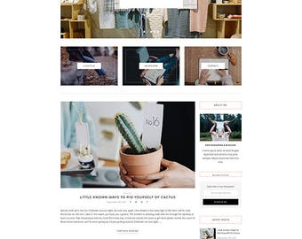 Natalie - A Blog and Shop Theme - Responsive WordPress Blog Theme - Feminine Wordpress Theme - WooCommerce Compatible
