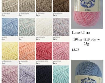 Jamieson's of Shetland Ultra Lace 2 Ply