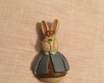 Vintage Bunny Pin Brooch