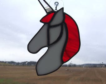 Unicorn Stained Glass Sun Catcher