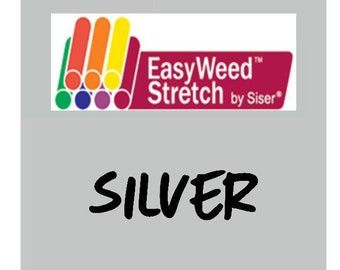 Siser EasyWeed Stretch Heat Transfer Vinyl - HTV - Silver