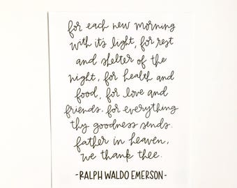 For each new morning... // Handlettered Print