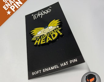 """HEY FOOTBALL HEAD! """"Soft Enamel Pin"""""""