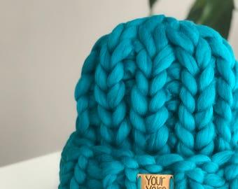 Women's wool knit hat, Helsinki Hat, Super chunky beanie, Chunky Hat, Knit Hat. Merino wool. Best Price